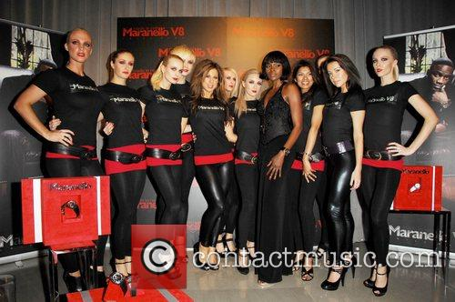 Models  attends the launch of the Maranello...