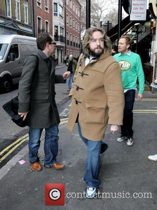 Justin Lee Collins and Alan Carr give a...