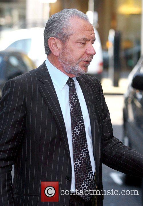Alan Sugar  leaving Radio One studios London,...