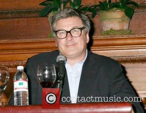 Alec Baldwin speaks at a party for his...