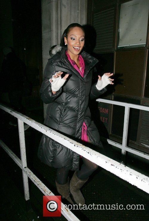 Alesha Dixon leaving the BBC Radio 1 studios...