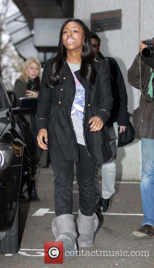 X Factor winner seen leaving the GMTV studios.