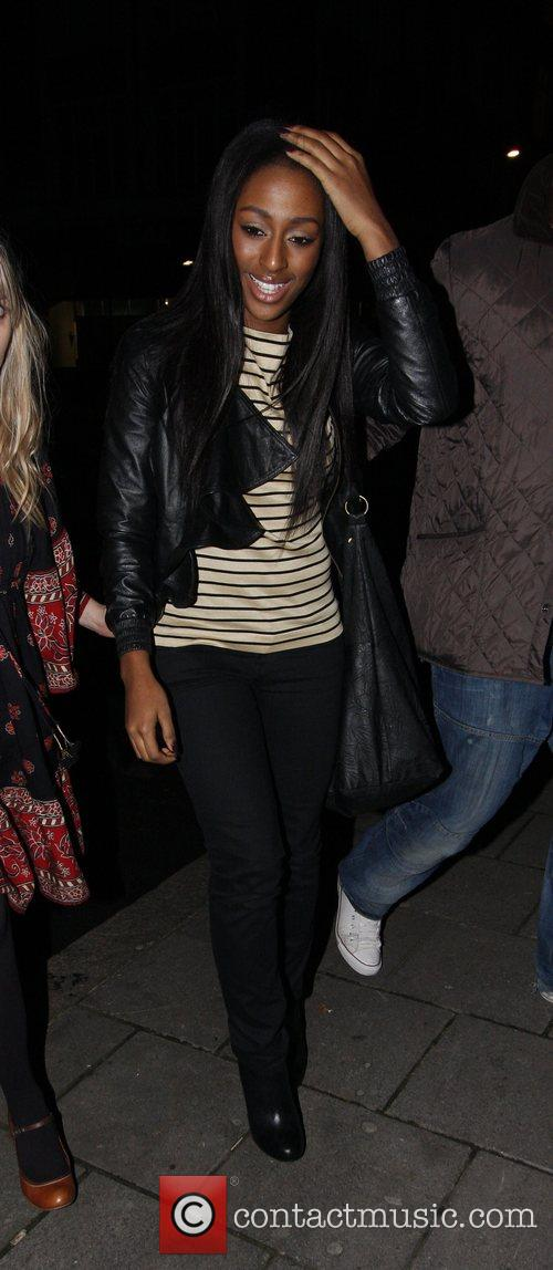 X Factor winner Alexandra Burke arriving at the...