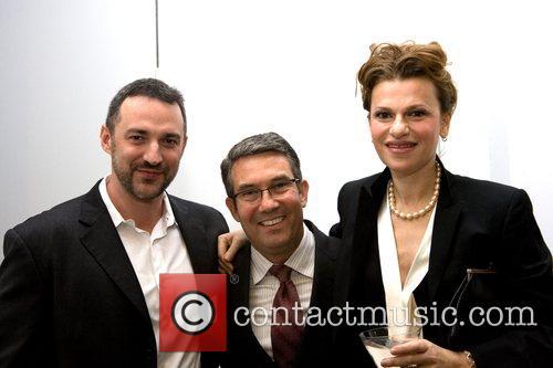 Carl Siciliano, Kyle Merker and Sandra Bernhard Ali...