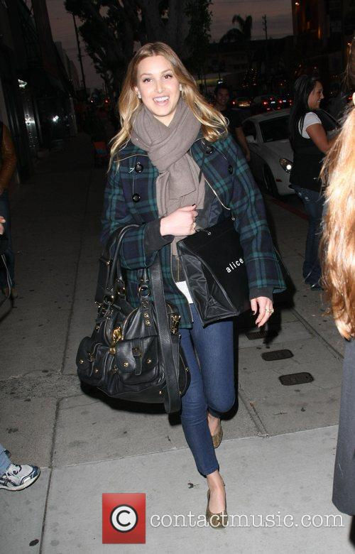 Whitney Port shopping at Alice and Olivia Boutique