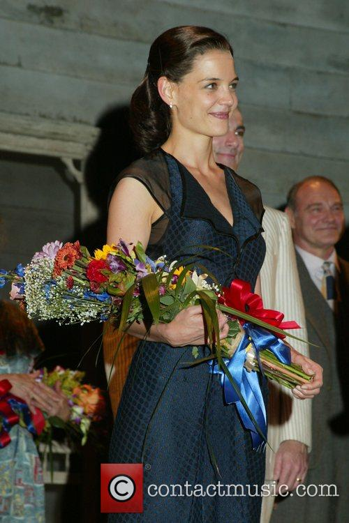 Katie Holmes Opening Night Curtain Call forAll My...