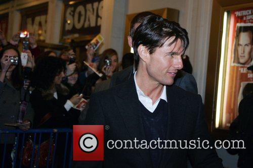 Tom Cruise leaving the Schoenfeld theatre after watching...