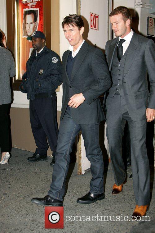 Tom Cruise and David Beckham leaving the Schoenfeld...