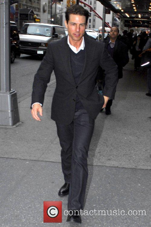 Tom Cruise arrives at the Gerald Schoenfeld Theatre...