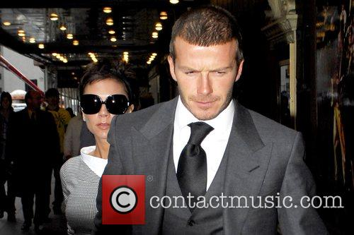 Victoria Beckham and David Beckham arrive at the...