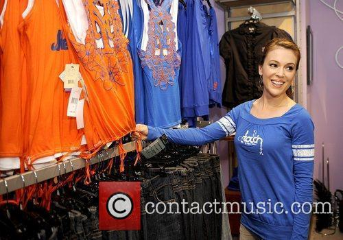 Alyssa Milano  at the grand opening of...