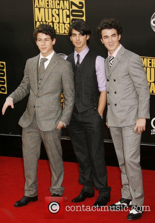 Nick Jonas, Joe Jonas and Kevin Jonas of...