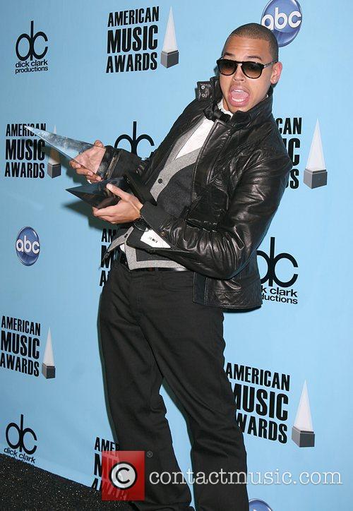 Chris Brown - winner of best male in...