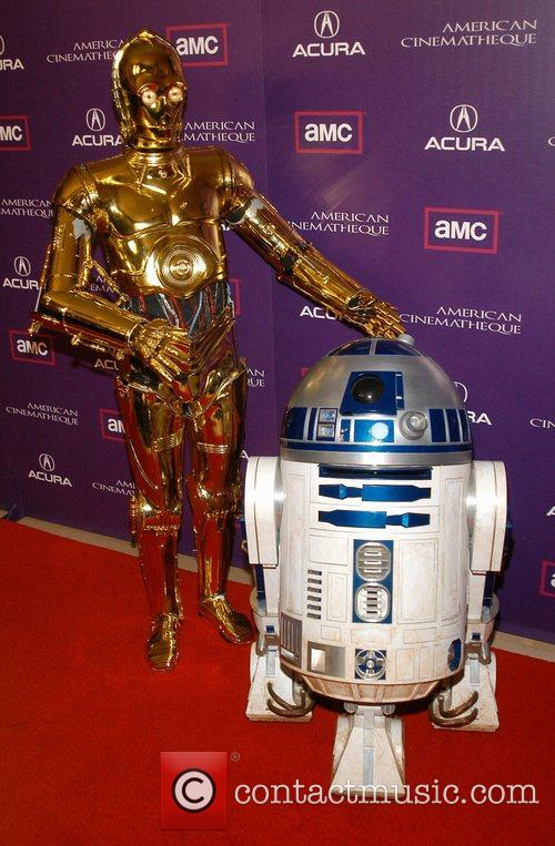 C-3PO and R2-D2 23rd Annual American Cinematheque Honors...
