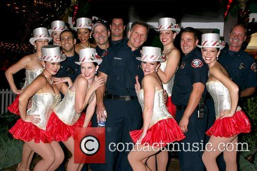 Glendale Firefighters and Santa's Helpers at the Americana...