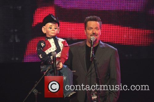 Terry Fator of America's Got Talent TV performs...