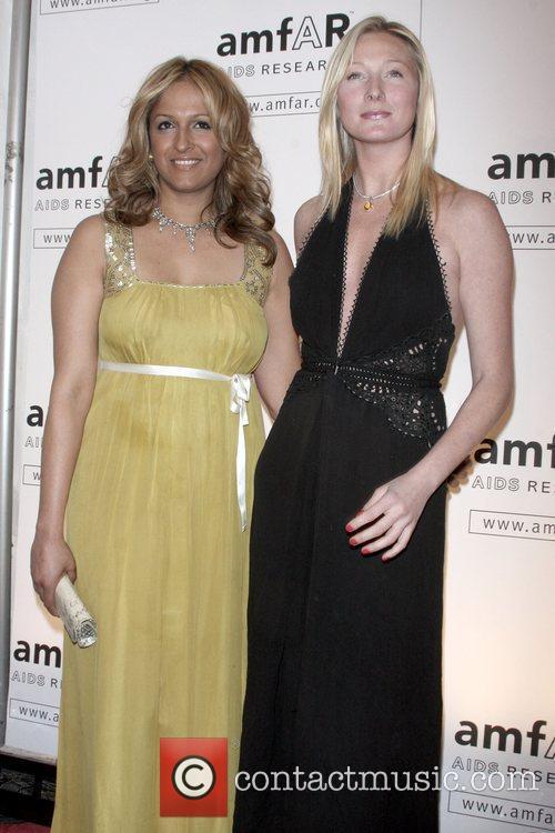 Guest and Maggie Rizer amfAR New York Gala...