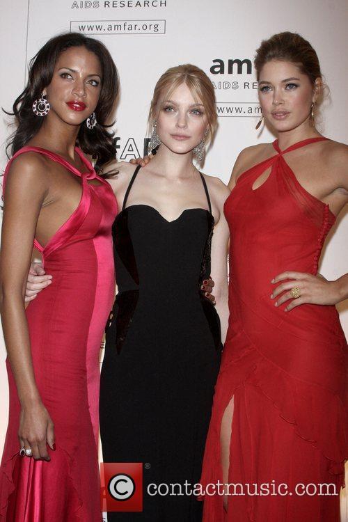 Noemie Lenoir, Jessica Stam and Doutzen Kroes amfAR...