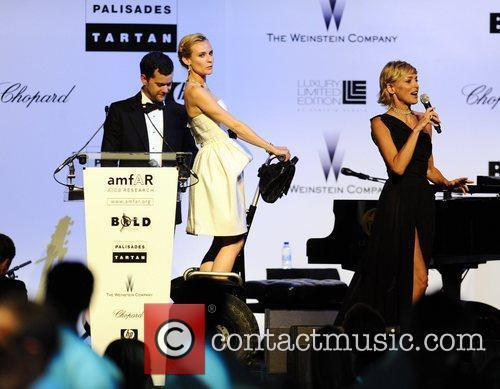 Sharon Stone and Joshua Jackson 5