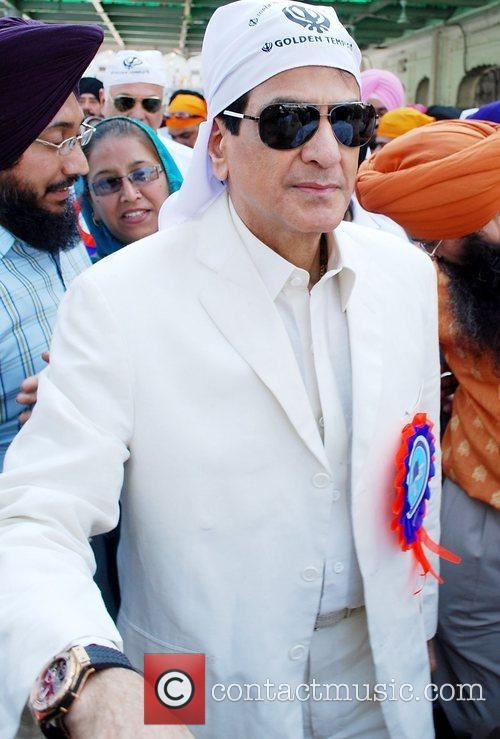 Bollywood Actor Jeetendra  on his way to...