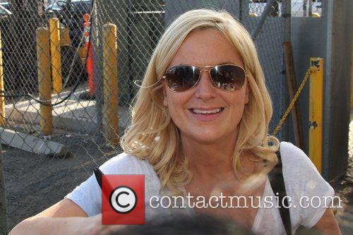 Amy Poehler outside El Capitan theatre in Hollywood...