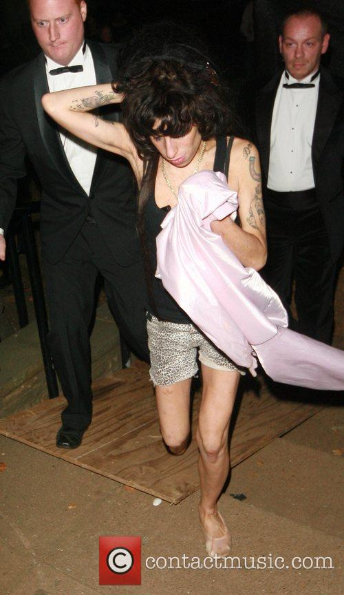 Leaving the 'End of Summer Ball' charity event...