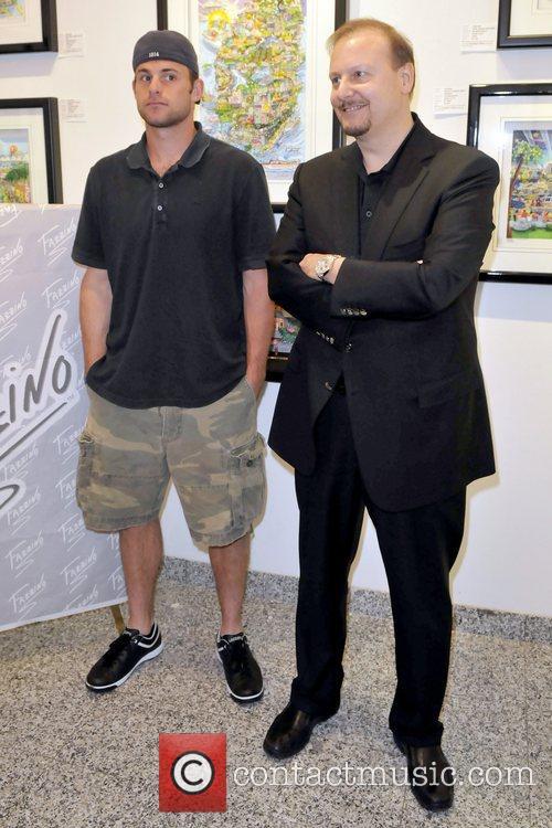 Andy Roddick and Charles Fazzino  Artist Charles...