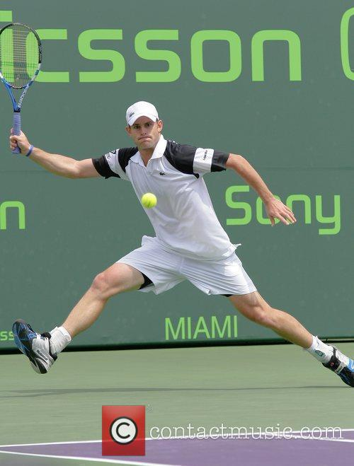 Andy Roddick plays against Dmitry Tursunov during day...