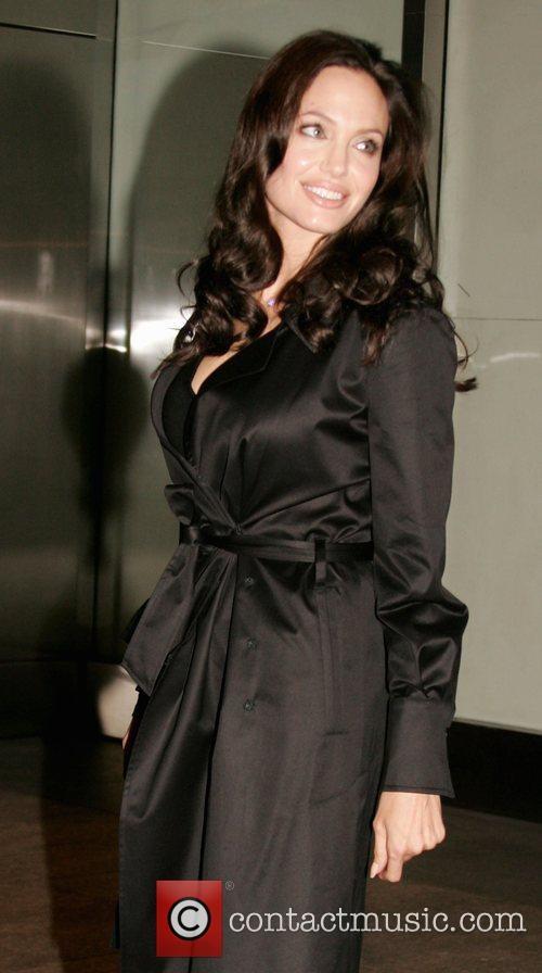 Angelina Jolie  leaving the Nobu in New...