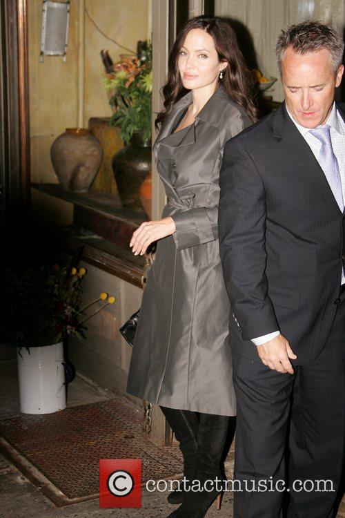 Angelina Jolie leaving a restaurant in Manhattan New...