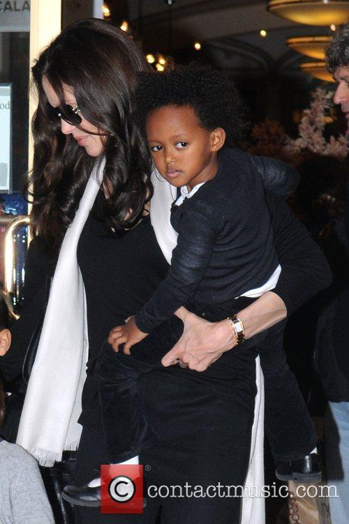 Angelina Jolie and Zahara Jolie-Pitt leaving Lee's Art...