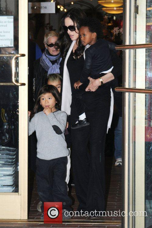 Pax Jolie-Pitt, Maddox Jolie-Pitt, Angelina Jolie and Zahara...