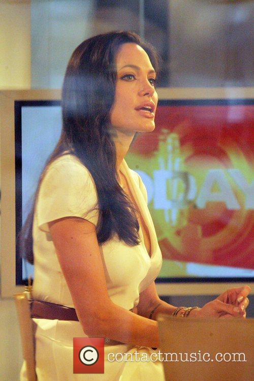 Angelina Jolie appearing on NBC's 'The Today Show'...