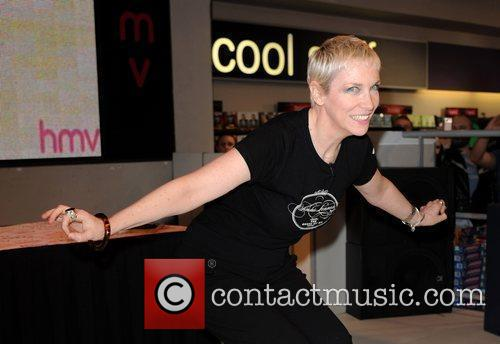 Annie Lennox  signs copies of her new...