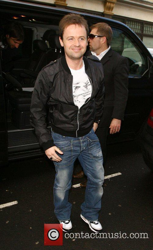 Declan Donnelly arriving at Radio One studios...