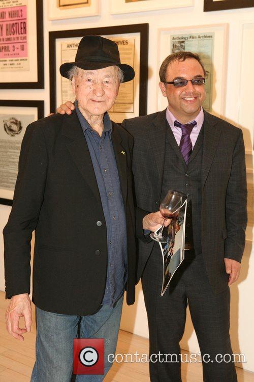 Artist Jonas Mekas and owner of the Maya...