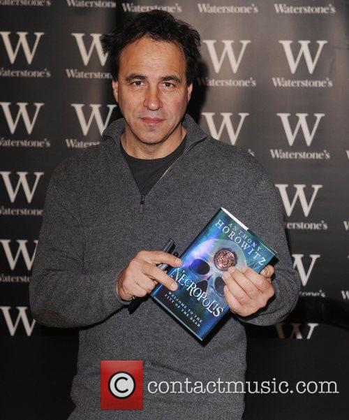 Signing copies of his book 'Necropolis' at Waterstones...