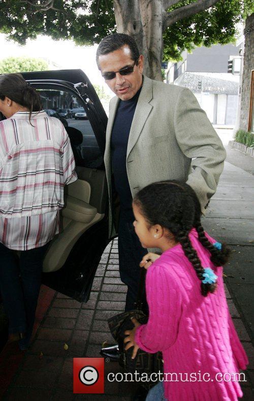 Los Angeles Mayor Antonio Veragosa leaving The Ivy...
