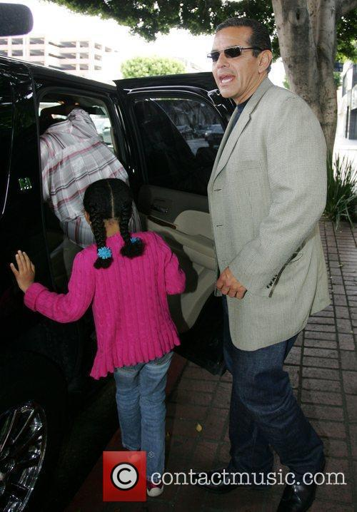 Los Angeles Mayor Antonio Veragosa leaving The Ivy...