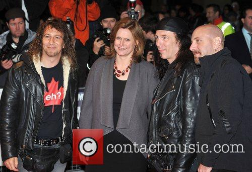 Sarah Brown with members of Anvil The Times...