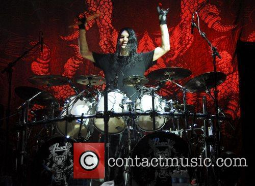 Arch Enemy performing live at the 'El Teatro...