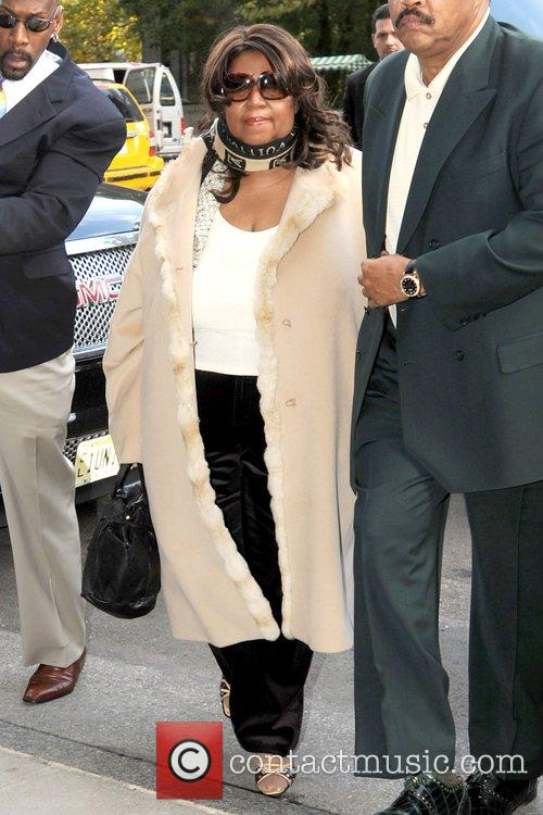 Aretha Franklin arriving at her Manhattan hotel New...