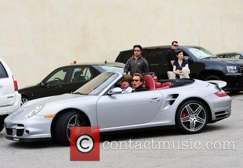 Arnold Schwarzenegger and His Son Christopher Leaving A Restaurant After Having Lunch With Their Family In Brentwood 4