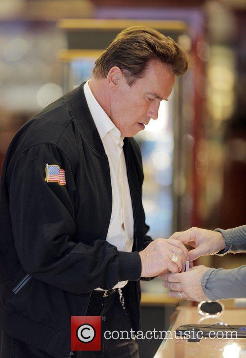 Arnold Schwarzenegger picks up some last minute Christmas...