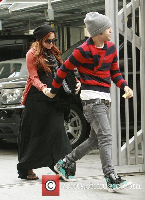 Ashlee Simpson and Pete Wentz out and about...