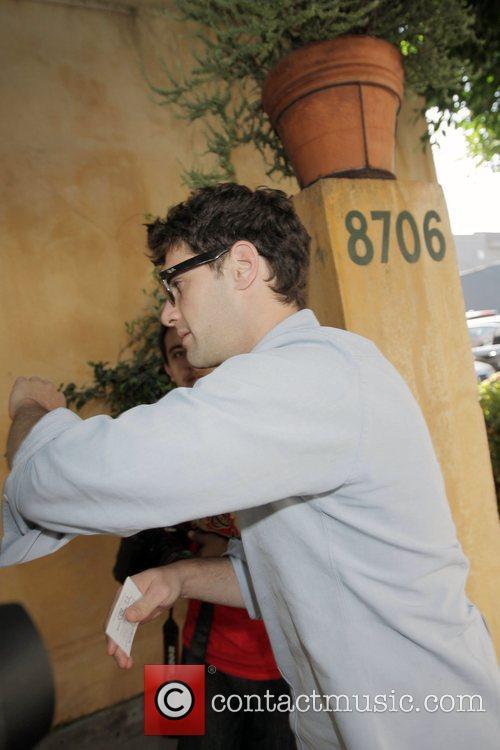Justin Bartha, Ashley Olsen's boyfriend, leaving Orso restaurant...