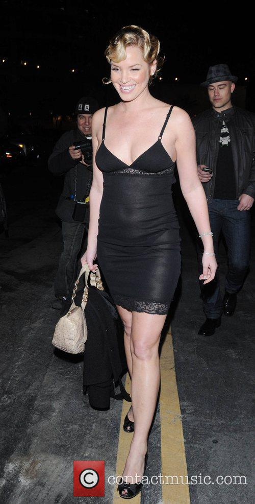 American actress Ashley Scott leaving Bardot wearing a...