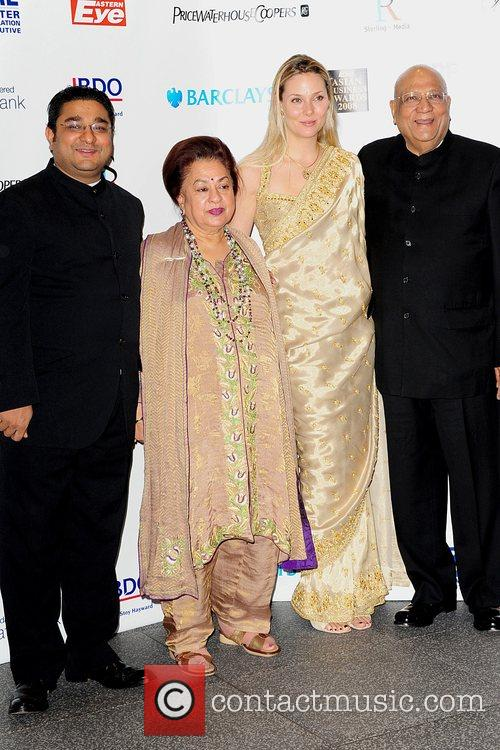 Lord Swraj Paul, Angad Paul and Guests Eastern...