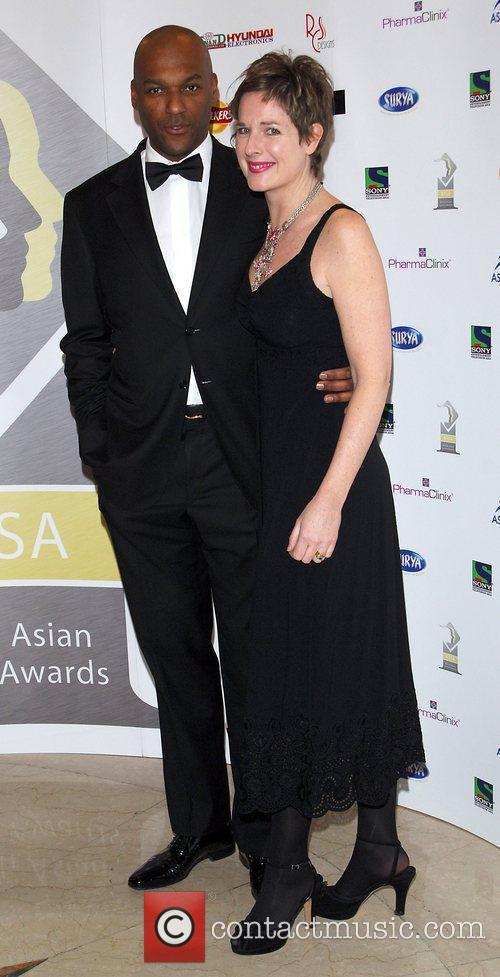 Colin Salmon and Fiona Hawthorne  British Asian...