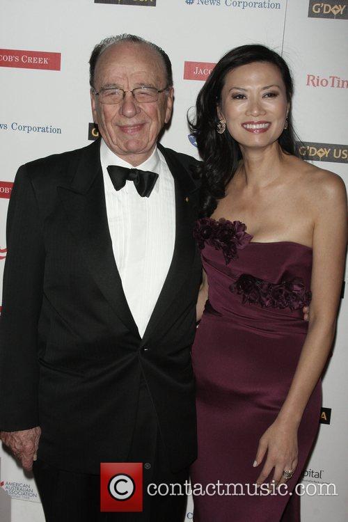 Rupert Murdoch and His Wife Wendi Deng 1